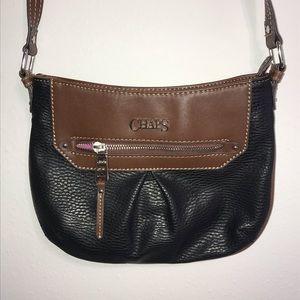 Chaps Crossbody Bag Black & Brown